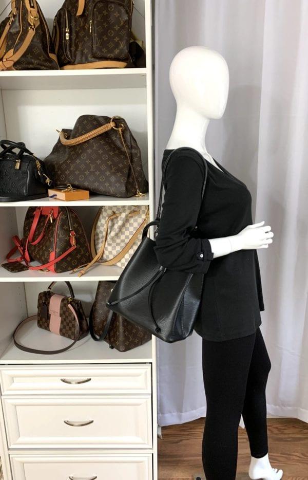 Louis Vuitton Neo Noe Epi Leather Black