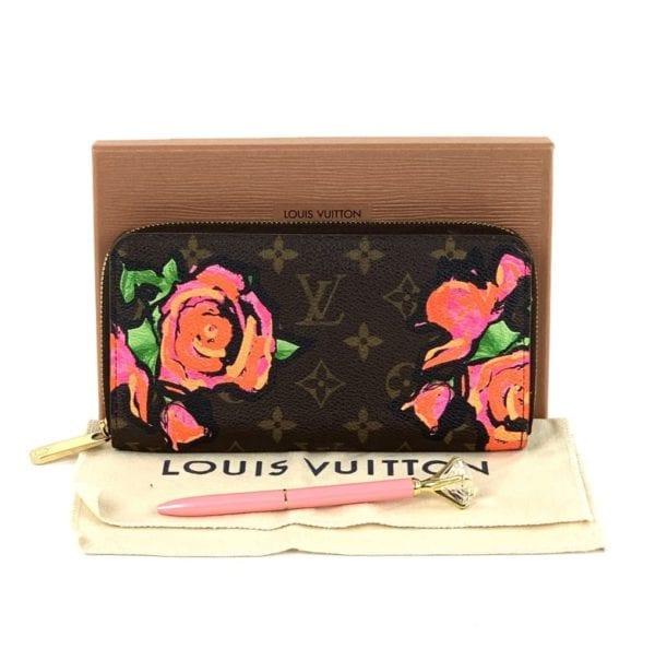 Louis Vuitton Roses Monogram Stephen Sprouse Zippy Wallet
