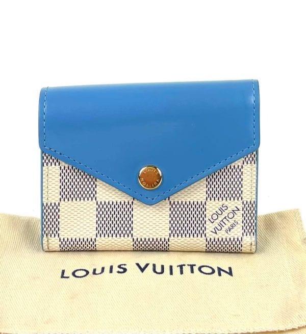 Louis Vuitton Damier Azur Zoe Wallet Bleuet