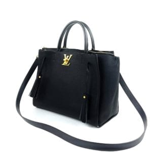 Louis Vuitton Calfskin Lockmeto Black