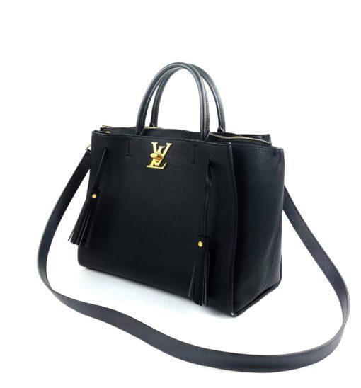 Louis Vuitton Calfskin Lockmeto Black
