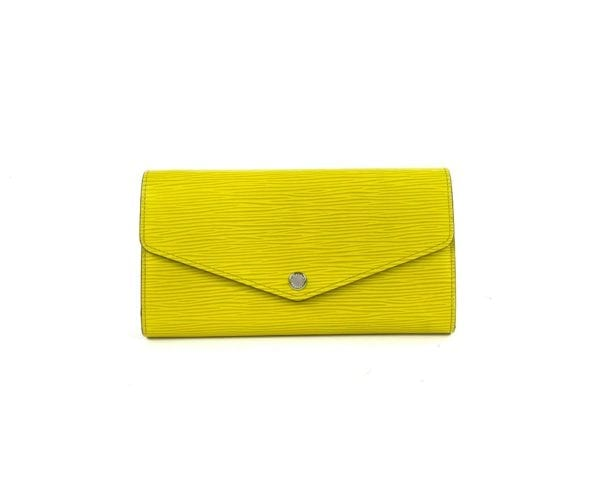Louis Vuitton Sarah Epi Wallet Chartruse