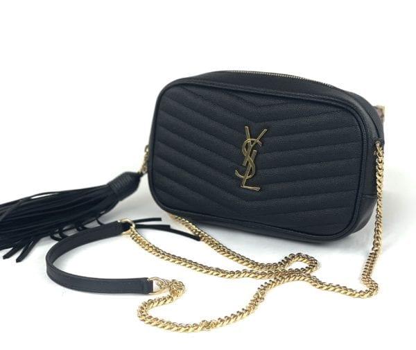 YSL Lou Mini YSL Grain de Poudre Camera Crossbody Bag