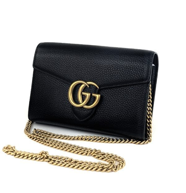 Gucci GG Marmont Chain Mini Bag Black