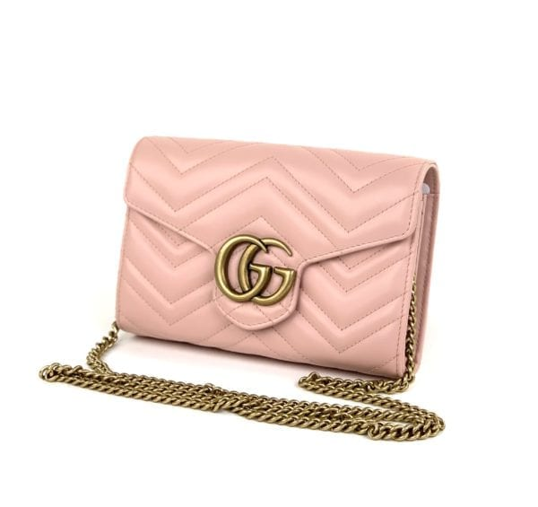 Gucci GG Marmont Chain Mini Bag Light Pink