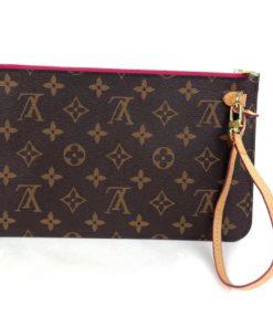 Louis Vuitton Monogram Neverfull Pochette Peony