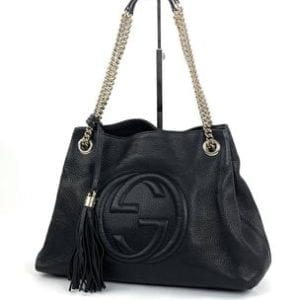 Gucci Soho Medium Leather Shoulder Bag Black
