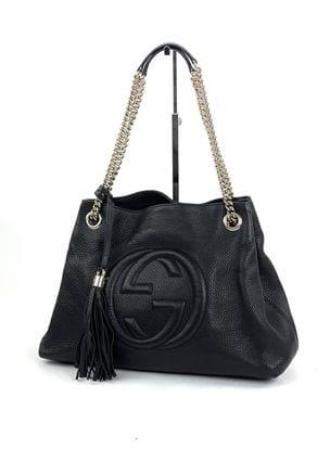 Gucci Soho Medium Leather Shoulder Bag Black