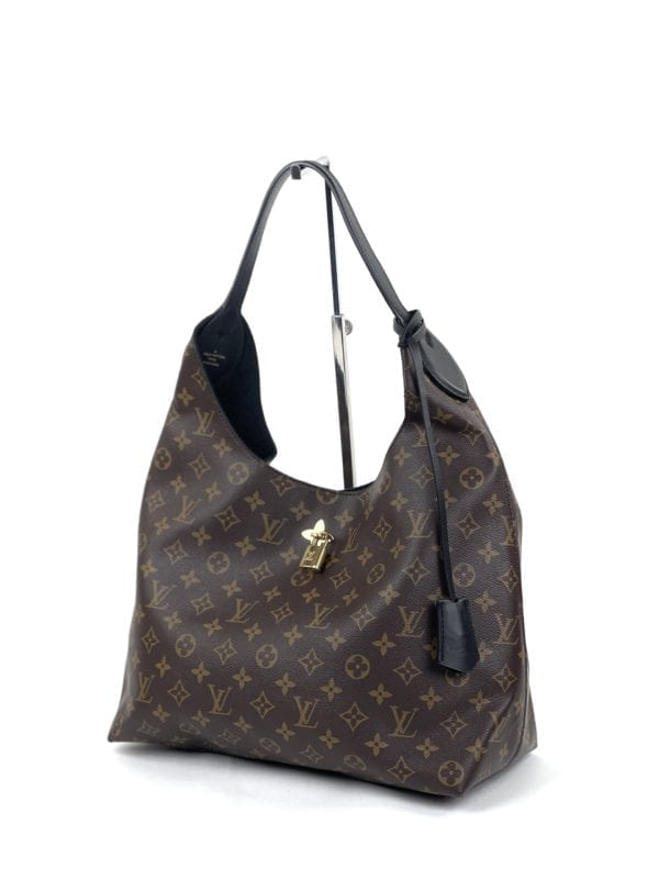 Louis Vuitton Monogram Flower Hobo Black