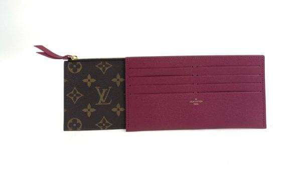 Louis Vuitton Monogram Felicie Chain Wallet Inserts Fuchsia