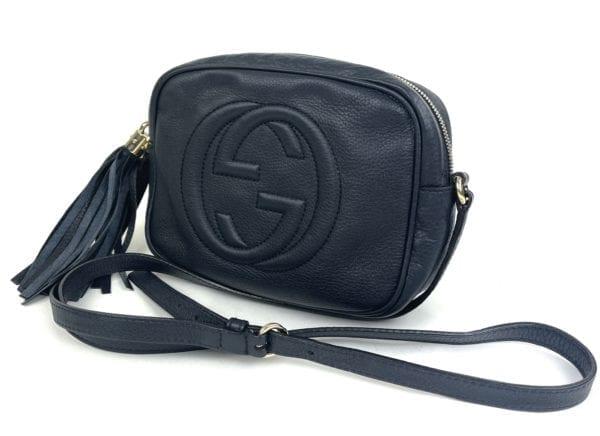 Gucci Soho Disco Navy Leather Crossbody Bag