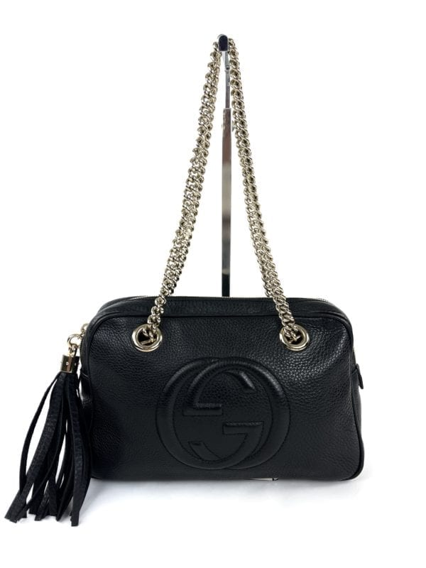 Gucci Small Soho Chain Shoulder Bag Black