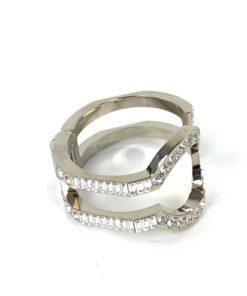 Louis Vuitton Metal Swarovski Crystal Serrure Strass Cuff Bracelet