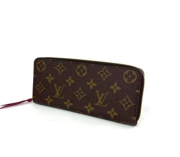 Louis Vuitton Monogram Clemence Wallet Fuchsia
