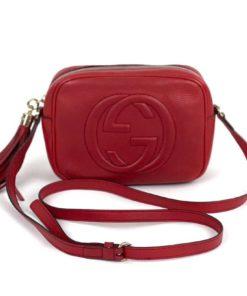 Gucci Soho Disco Red Leather Crossbody Bag
