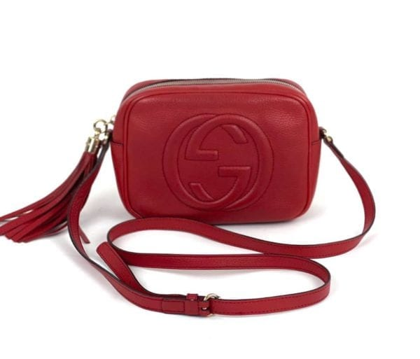 Gucci Soho Disco Red Leather Crossbody Bag