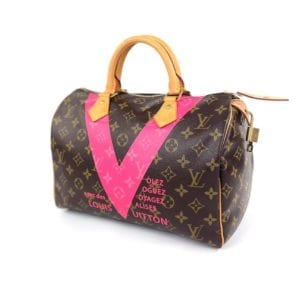 Louis Vuitton Limited Edition Grenade Monogram V Speedy 30