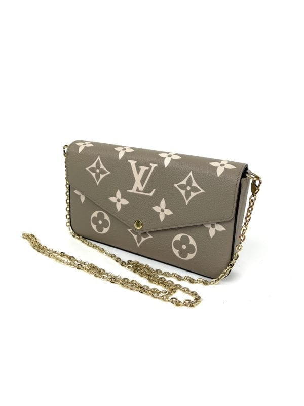 Louis Vuitton Bicolor Monogram Empreinte Leather Felicie Pochette