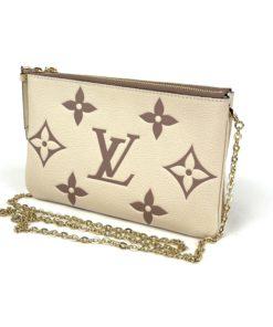 Louis VuittonBicolor Monogram Empreinte Leather Double Zip Pochette