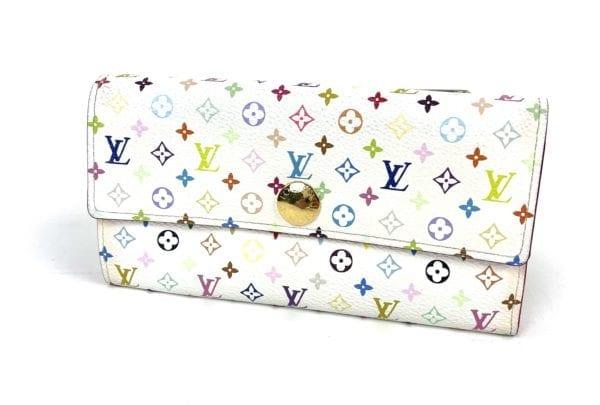 Louis Vuitton Monogram Multicolor Sarah Wallet White