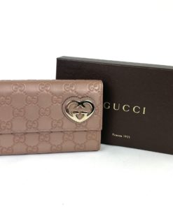 Gucci Guccissima Lovely Heart Continental Wallet