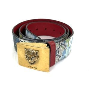 Gucci Blooms Print Coated Canvas Belt- Size 95/33