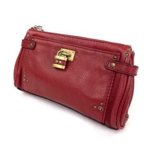 Chloe Paddington Red Leather Clutch