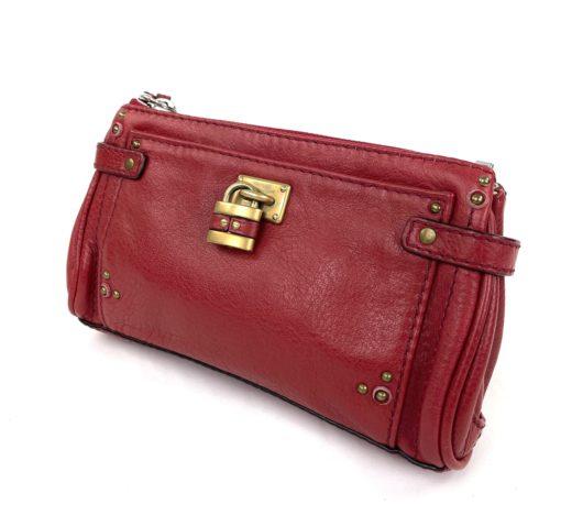 Chloe Paddington Red Leather Clutch