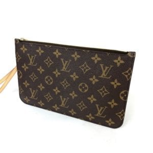 Louis Vuitton Monogram Neverfull Pochette Tan