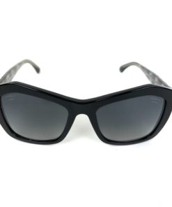 Chanel Black Polarized Quilted Pentagon Cutout 5296 501/S8 Sunglasses