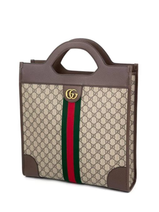 Gucci Ophidia Cut Out Handle Bag GG Coated Canvas Medium