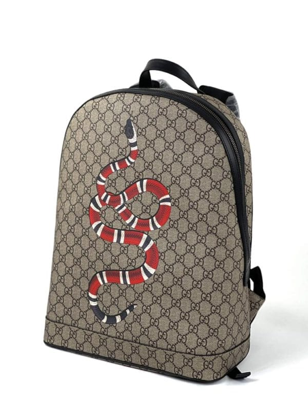 Gucci Kingsnake GG Supreme Backpack