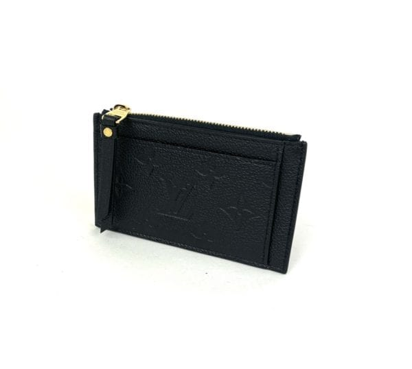 Louis Vuitton Monogram Empreinte Zipped Card Holder Black