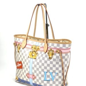 Louis Vuitton Damier Azur Summer Trucks Neverfull MM