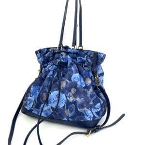 Louis Vuitton Limited Edition Grand Bleu Monogram Ikat Floral Nylon Noefull