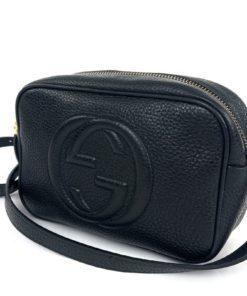 Gucci Soho Small Leather Disco Bag Black