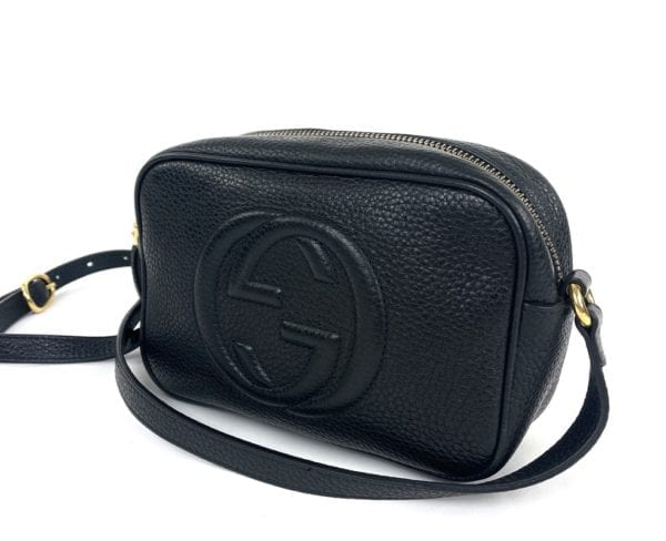 Gucci Soho Small Leather Disco Bag Black