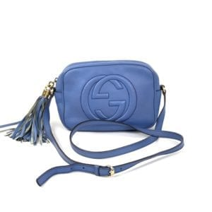 Gucci Soho Disco Periwinkle Blue Leather Crossbody Bag