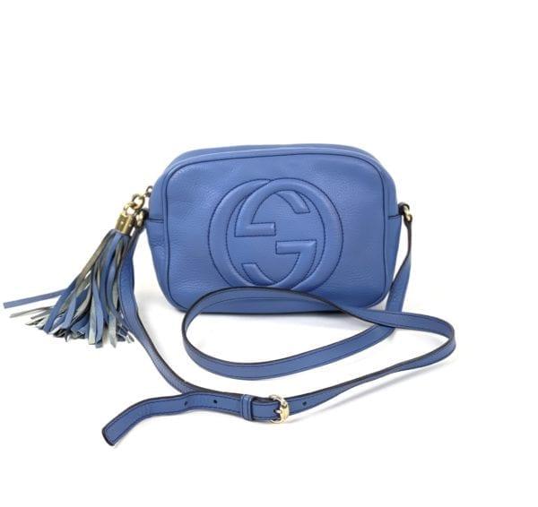 Gucci Soho Disco Periwinkle Blue Leather Crossbody Bag