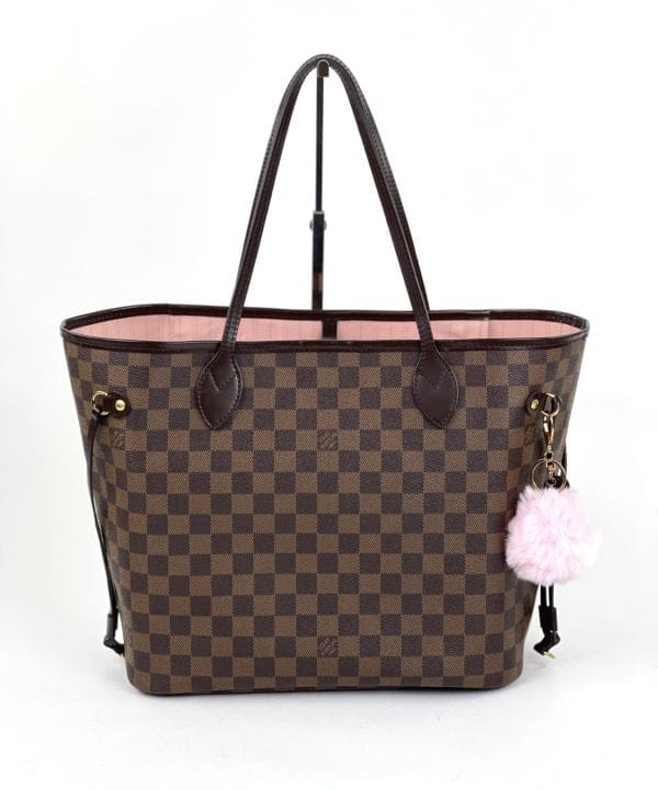 Louis Vuitton Damier Ebene Neverfull MM Rose Ballerine