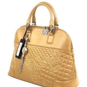 Versace Nappa Leather Athena Barocco Quilted Vanitas Shoulder Bag