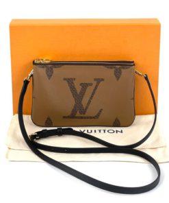 Louis Vuitton Reverse Monogram Double Zip Pochette