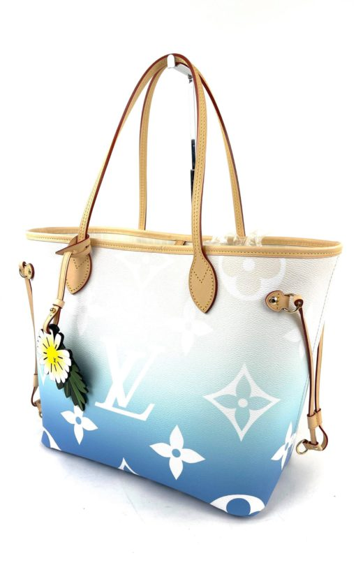 Louis Vuitton Neverfull Blue By The Pool MM Full Set