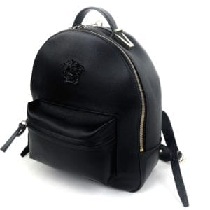 Versace Palazzo Black Leather Mini Backpack