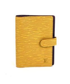 Louis Vuitton Yellow Epi Small Ring Agenda Cover
