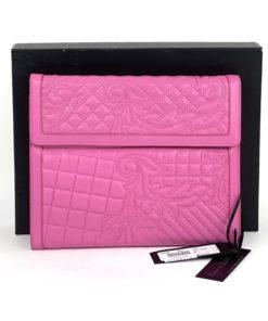Versace Vanitas Quilted Leather Hot Pink iPad Case