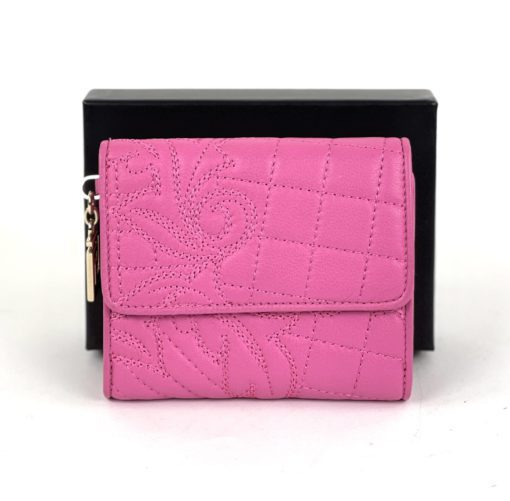 Versace Vanitas Quilted Leather Hot Pink Small Wallet