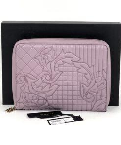 Versace Vanitas Quilted Leather Zip-Around Organizer