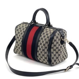 Gucci GG Navy Boston Bag
