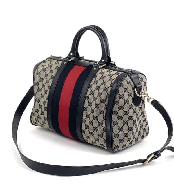 Gucci GG Navy Boston Bag